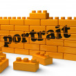 Word on yellow wall - Stock Photo