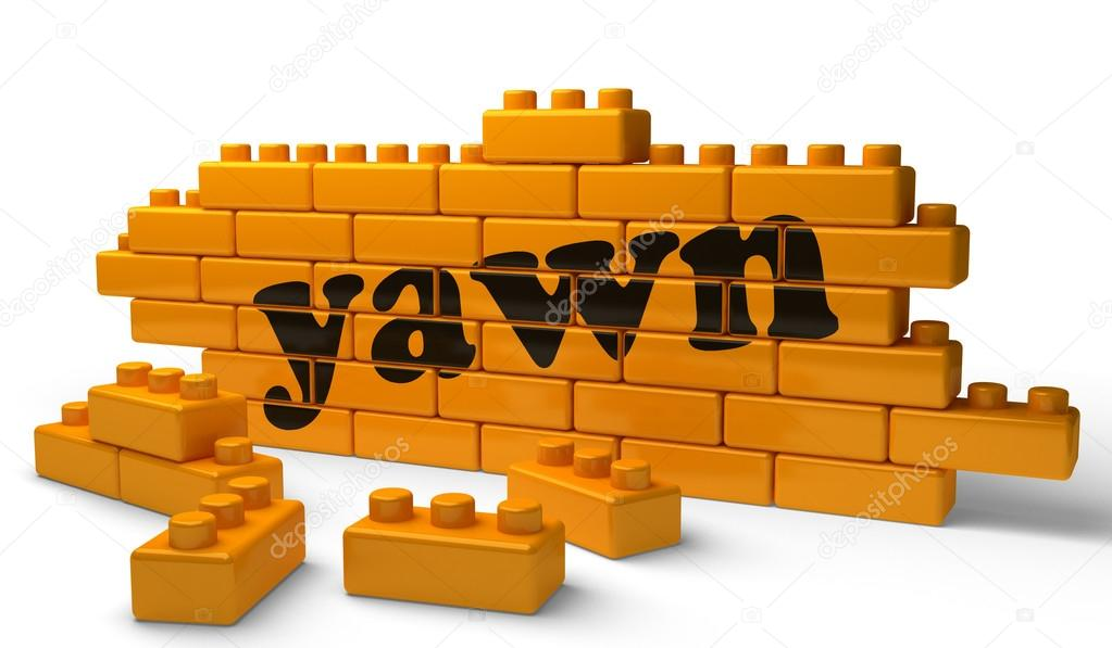 Word on yellow wall  Stock Photo #13225204