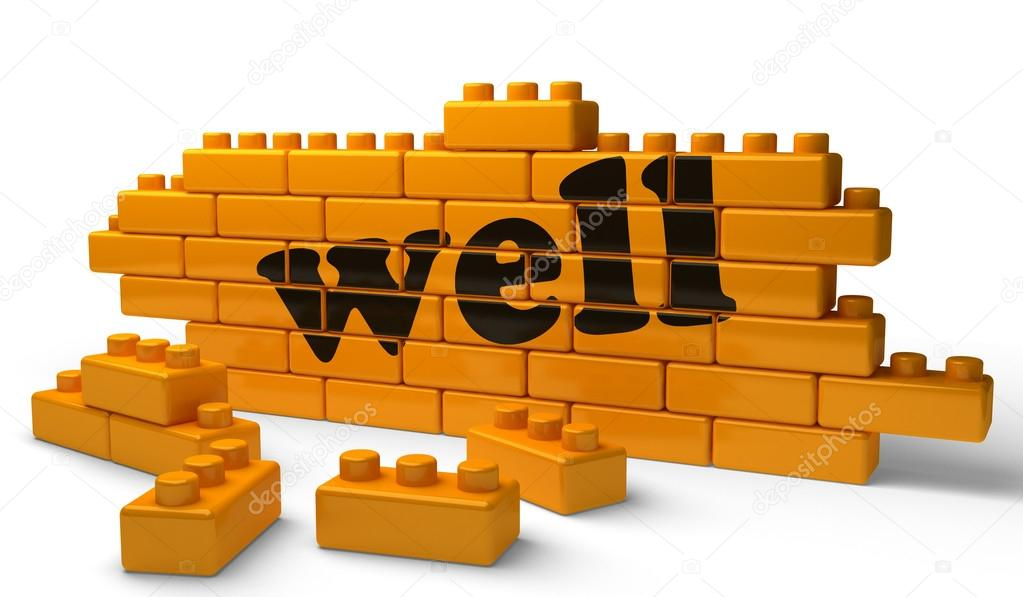 Word on yellow wall  Stock Photo #13225604