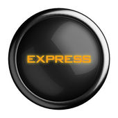 Word on black button — Stock Photo