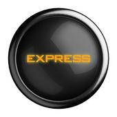 Word on black button — Stock Photo
