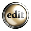Stock Photo: Word on button
