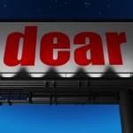 Word on billboard — Stock Photo #24351699
