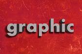 Grau Wort auf roter Wand — Stockfoto