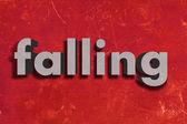 Серый слово на красном стены — Стоковое фото