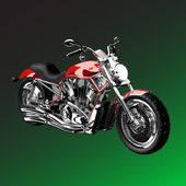Realistic vector painted motorcycle — Stock Vector