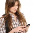 Young woman using cell phone — Stock Photo #5185026
