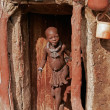 Himba boy, Namibia - Stock Photo