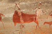 Bushmen rock painting — Foto Stock