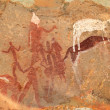 Bushmen rock painting — Stock fotografie