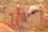 布须曼人岩石画 — 图库照片