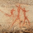 Bushmen rock painting — Stock Photo