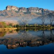 Sandstone mountains and reflection — 图库照片