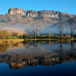 Sandstone mountains and reflection — Stockfoto
