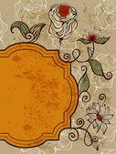 Вектор открытка с фанки странные цветы — Cтоковый вектор