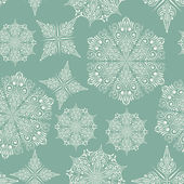 Vector Seamless Wintaer Pattern with Snowflakes — Stok Vektör