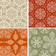 Royalty-Free Stock Vector Image: 4 Vector Seamless Winter Patterns with  Snowflakes