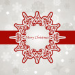 Vector Christmas Greeting Card with Snowflakes — Stock Vector