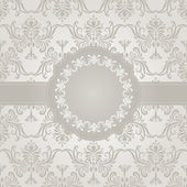 Vector Seamless Vintage Wallpaper Pattern with Frame for your Te — Stock Vector