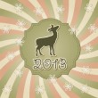 Stock vektor: Vector New Year Greeting Card with Deer