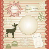 Vector Christmas Scrapbook — Stock Vector