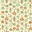 Vector Seamless Christmas Pattern - Stock Vector