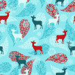 Vector Winter Seamless Pattern — Stock Vector