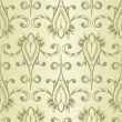 Vector Seamless Vintage Wallpaper Pattern - Imagen vectorial