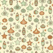 Vector Seamless Christmas Pattern — Stock Vector