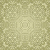 Vector vintage seamless floral pattern — Stock Vector