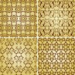 Stock Vector: Vector seamless golden patterns, oriental style