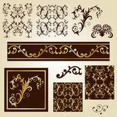 Elementos de design vintage — Vetor de Stock
