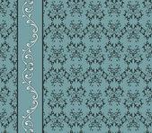 Vector vintage naadloze patroon met florale naadloze rand — Stockvector