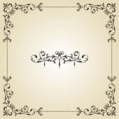Vector Vintage Frame and Label — Stock Vector