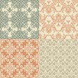 Stock Vector: Vector Seamless Vintage Wallpaper Patterns