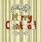 Vector Christmas Greeting Card — Vector de stock