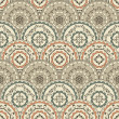 Vector Seamless Vintage Oriental Pattern — Stock Vector