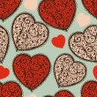 Royalty-Free Stock Vectorielle: Vector Seamless Pattern with Hearts
