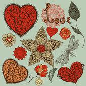 Vector Valentine's Day Design Elements — Stock Vector