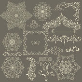 Vector Lacy Vintage Design Elements — Stock Vector