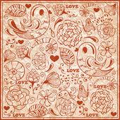 Vector Valentine's Day Pattern — Stock Vector