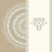 Vector Vintage Invitation with Lacy Napkin — Stock Vector