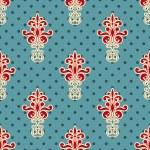 Vector Seamless Floral Wallpaper Pattern — Stock Vector