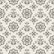 Vector Seamless  Floral Wallpaper Pattern — Stock Vector