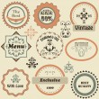 Vector Retro Labels — Vettoriale Stock #22797826