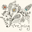 Spring Vector Greeting Card — Stock Vector