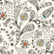 Spring Vector Seamless Wallpaper Pattern — Stock Vector