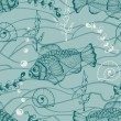Vector Seamless Underwater Pattern - Vettoriali Stock