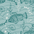 Vector Seamless Underwater Pattern - ベクター素材ストック