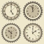 Sistema del reloj vintage vector — Vector de stock